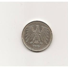 Moneda Antigua Alemana De 5 Marcos 1975