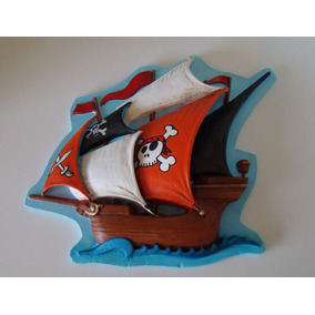 Relieve De Barco Pirata Para Decoracion Infantil