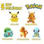 Pokemon Pikachu Kit 5 Bonecos De Pelúcia E Sua Turma