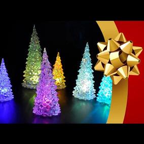 Mini Arvore De Natal Led Colorida Enfeite De Mesa Natal