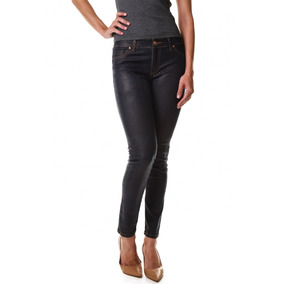 Calça Jeans Multi Ponto Denim Skinny Resina Croco