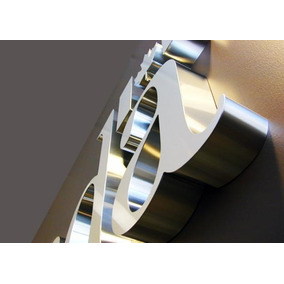 Letras Em Aço Inox, Logo, Numeros, Fachadas 15cm Promoção
