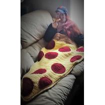 Cobija Capullo Tejida A Crochet Individual Forma De Pizza