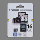 Micro Sd Hc I Polaroid 16gb Class 10 C/adaptador Sd /80mb/s
