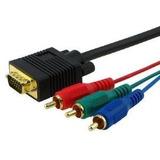 Cable Pc Vga A Video Componente Ficha Oro24k Rca Tv Lcd