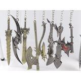 Kit 10 Chaveiros Espadas Lol Wow God Of War A Sua Escolha
