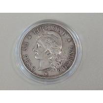 Patacon 1 $ Peso 1882 Argentina Plata Impecable Estado Un