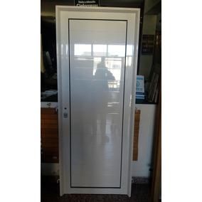 Puerta De Aluminio Blanco Exterior Reforzada 60 X 200