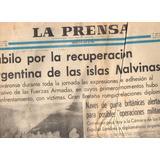 Diario La Prensa 3 Abril 1982 Dia Despues De Islas Malvinas