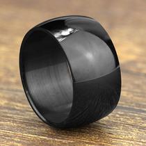 Par Aliança Casamento Aço Inox 12mm Preto - Não Perde A Cor