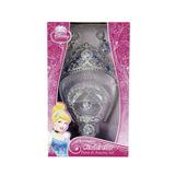 Kit De Acessórios Princesa Disney Coroa Colar Anel E Brincos