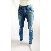 Calça Jeans Masculina Skinny Feito Manchada Promoção 0707