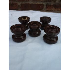 Lote De 5 Aisladores De Porcelana