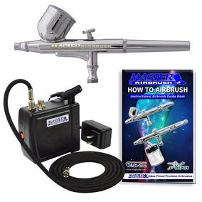 Kit Aerografo Profesional Mini Compresor Master Portatil