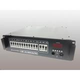 Rack Modulo Dimmer Dmx Display Digital - 12 Canais - 4kw