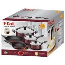 Set De Cocina Tfal Cook & Strain 8 Piezas