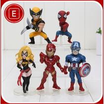 Boneco Os Vingadores | Kit Com 5 Unidades - Figuras | Marvel