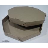 100 Cajas Pizza Grande Octogonal Microcorrugado,diametro 32