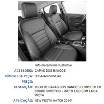 Jogo Capa Banco Couro Legítimo New Fiesta 14/ Hatch