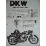 Moto Dkw Publicidad Grafica Año 1962