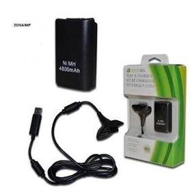 Carga Juega Pila Batería Cable Control Inalámbrico Xbox 360