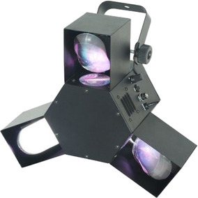 Scanner Triple Led Rgb Dmx Efecto Strobo 3 Espejos Con Video