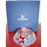 Porta Velas Swarovski Poinsettia Tea Light Año 2007
