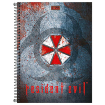 Caderno Resident Evil - Umbrella Corporation - 1 Matéria - T