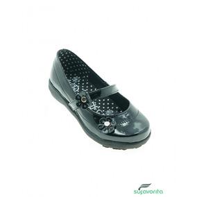 Zapato Escolar Para Niña Charol Negro Marca Vanessa