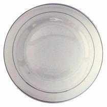 Kit 12 Prato Raso Mesa Em Porcelana Branco 27cm Jantar Sala