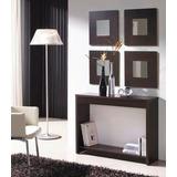 mesa arrime recibidor moderno con espejos