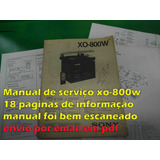 Manual De Serviço Sony Xo-800w Xo800w Xo800 Xo 800 Em Pdf