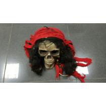 Halloween Cabeza Pirata Muerte Craneo Murcielago Solo Envios