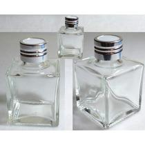 Envase Frasco De Vidrio Difusor Por 10 Frascos + 50 Varillas