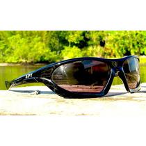 Óculos De Sol Spy Original - Modelo P. Larga 48 Preto Escuro