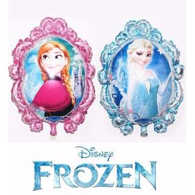Balão Metalizado, Frozen Ana E Elsa Kit/16 Balões + 4 Olaf