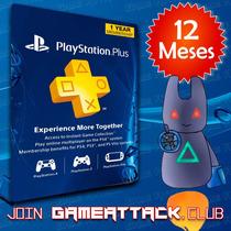 Psn Plus 12 Meses Usa Entrega Inmediata Ps4 Ps3 - Gameattack