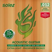 Encordoamento Violão Aço Solez 012 Phosphor Bronze