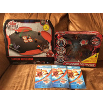 Mega Pack Bakugan: 1dragonoid Destroyer, 1arena Y 3bakupack