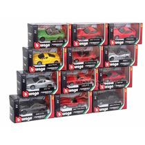 Kit Set Com 12 Miniaturas Ferrari Bburago 1:43 36100-kit