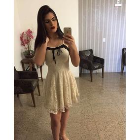 Vestido Lola Bella - Festa - Bege - Em Renda - C/bojo