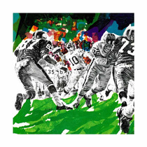 Inside Pro Football Painting Print On Canvas By Paul Calle