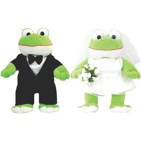 Pelúcia Casal Sapo E Sapa Noivos - Para Casamento. - 25 Cm
