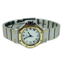 Reloj Cartier Santos Oro 18k Y Acero Para Dama