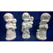 Kit 35 Imagens Santos Católicos Em Gesso Infantil Baby 15 Cm