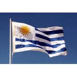 2 Bandera Uruguay 1,50x90cm Más 1 De Auto Envío Incluído