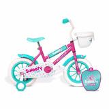 Bicicleta Infantil Stark Sweety 6170 Rod 12 Ruedas Canasto