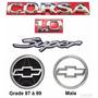 Kit Emblemas Corsa Hatch 1.0 Super - 1997 À 1999