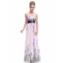 Vestido Branco Azul Festa Noiva Casamento 15 Anos Floral