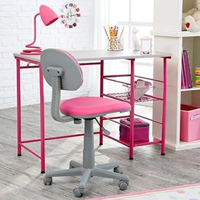 estudiar la zona ii escritorio y silla rosa